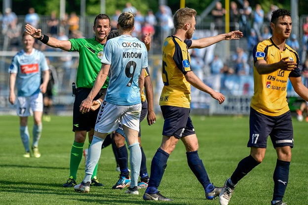 Hobro IK tager imod SønderjyskE hjemme på DS Arena. Foto: Nicolas Cho Meier