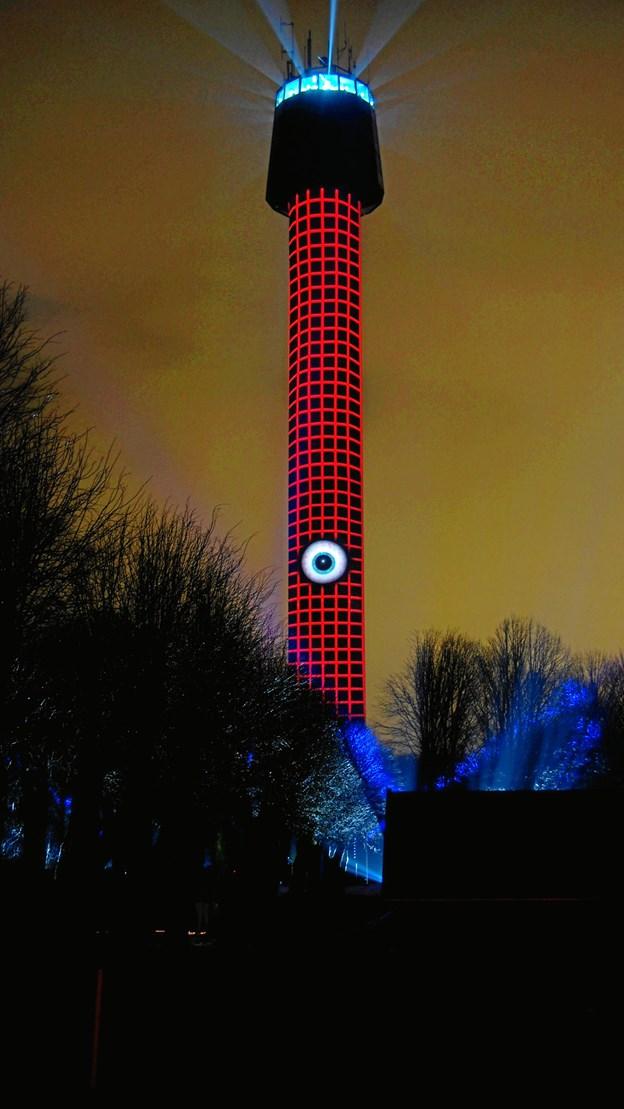 Her en af de flotte satsninger fra Cloostårnet i februar - en gave til Frederikshavn i anledning af købstadsjubilæet. Foto: EUC-Nord.