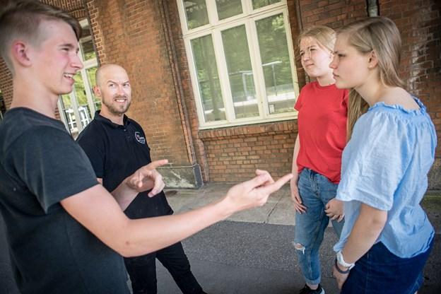 Fra venstre Nicolai Breum, Steffen Olsen Jensen (kok), Nete Iben Pedersen og Edith Katrine Stenbeck Jensen.