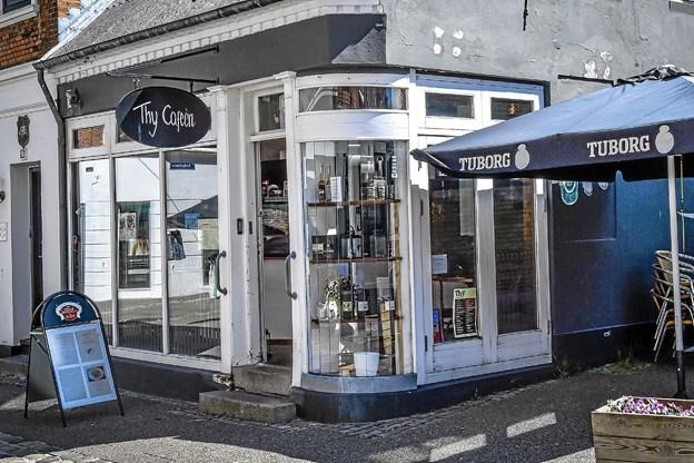 Thy Caféen, som blev totalrenoveret i 2017, er nu sat til salg.Foto: Ole Iversen