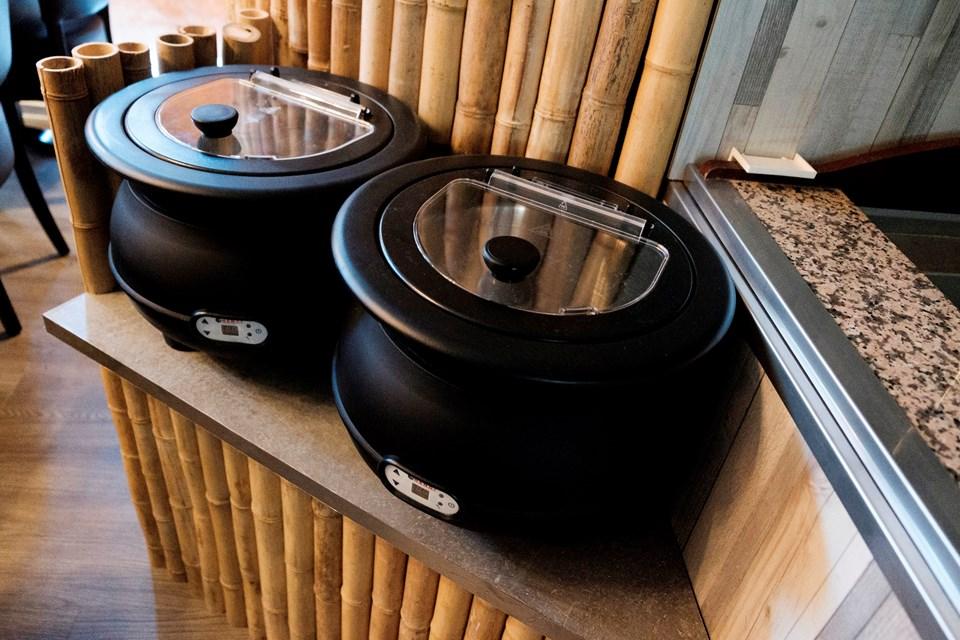 Til buffet'en hører også suppe. Foto: Lasse Sand