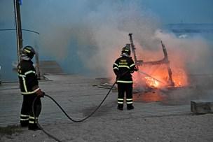Skur i flammer i Thy Cablepark