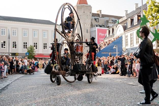 En fatastisk musikalsk cykel. Foto: Lasse Sand
