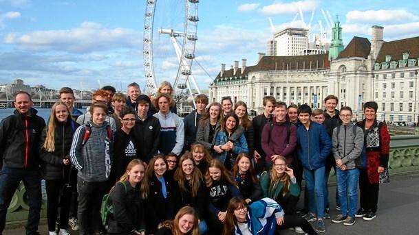 Valgfagshold på tur til London