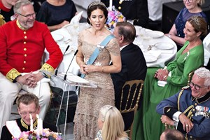 Dronningen, statsministeren og kronprinsesse Mary holdt taler ved kronprinsens 50-års fødselsdag.