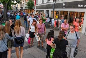 Palme og shoppefest i Frederikshavn