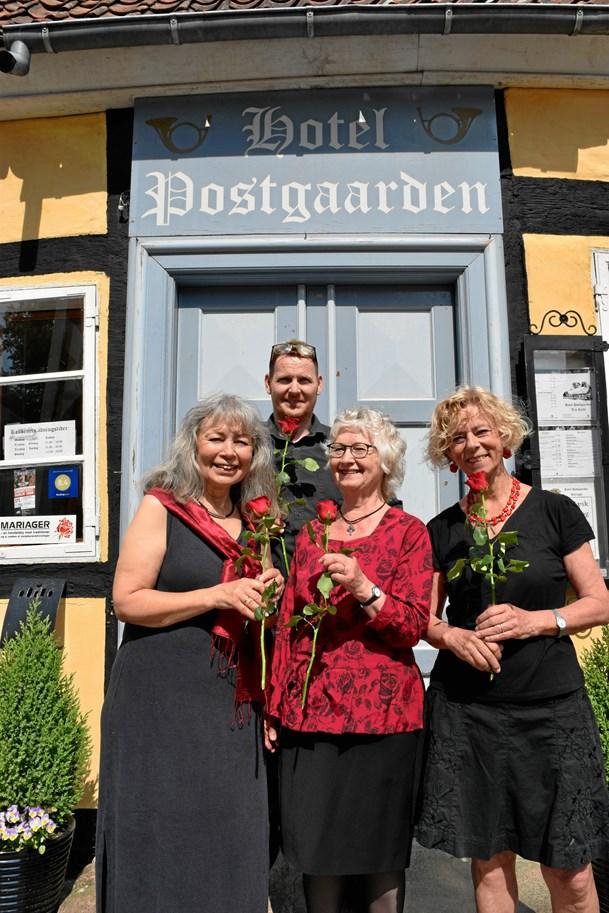 Roser på menuen i Rosernes by