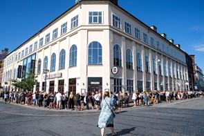 Vild kø: Folk går shop-amok i Kalejdoskop