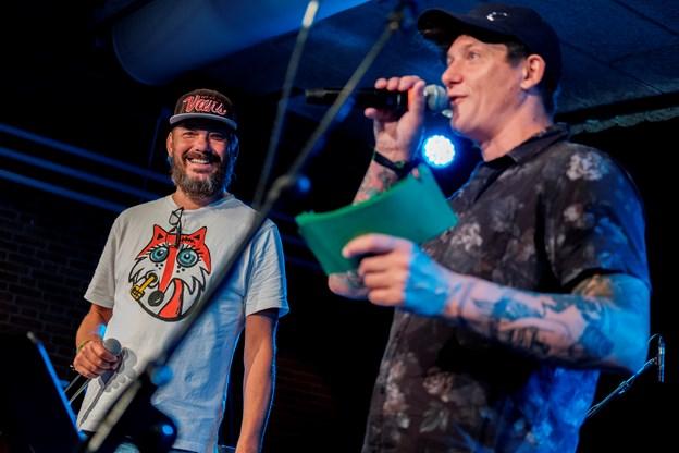 Jonny Hefty, til venstre, og Jødewn er konferenciers. Foto: Lasse Sand