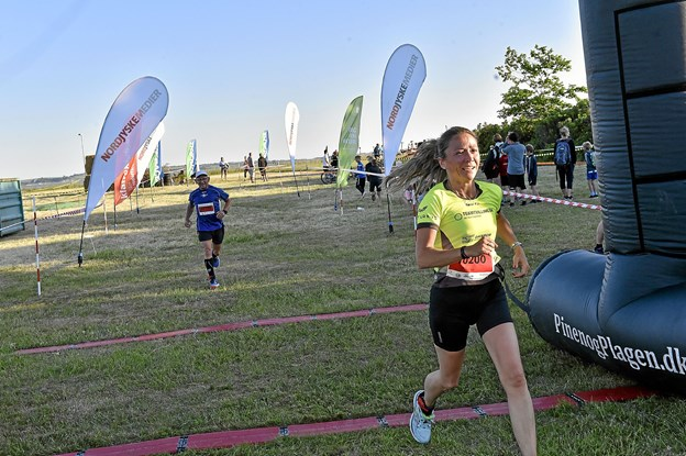 Wilma Jensen, Team Tvilling i mål på 10 km. som 16. hurtigste kvinde i tiden 59.26 min. Foto: Ole Iversen