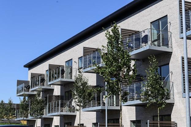 Der er terrasse eller altan til alle 27 lejligheder. Foto: Bent Bach