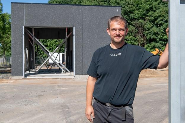 Som direktør for virksomheden Dit Autocenter Nørager ApS får Torben Jensen det daglige tilsyn med den nye vaskehal på Grynderupvejen i Nørager.