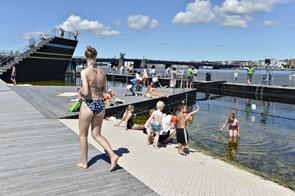 Nedtællingen til åbning af havnebad er skudt i gang