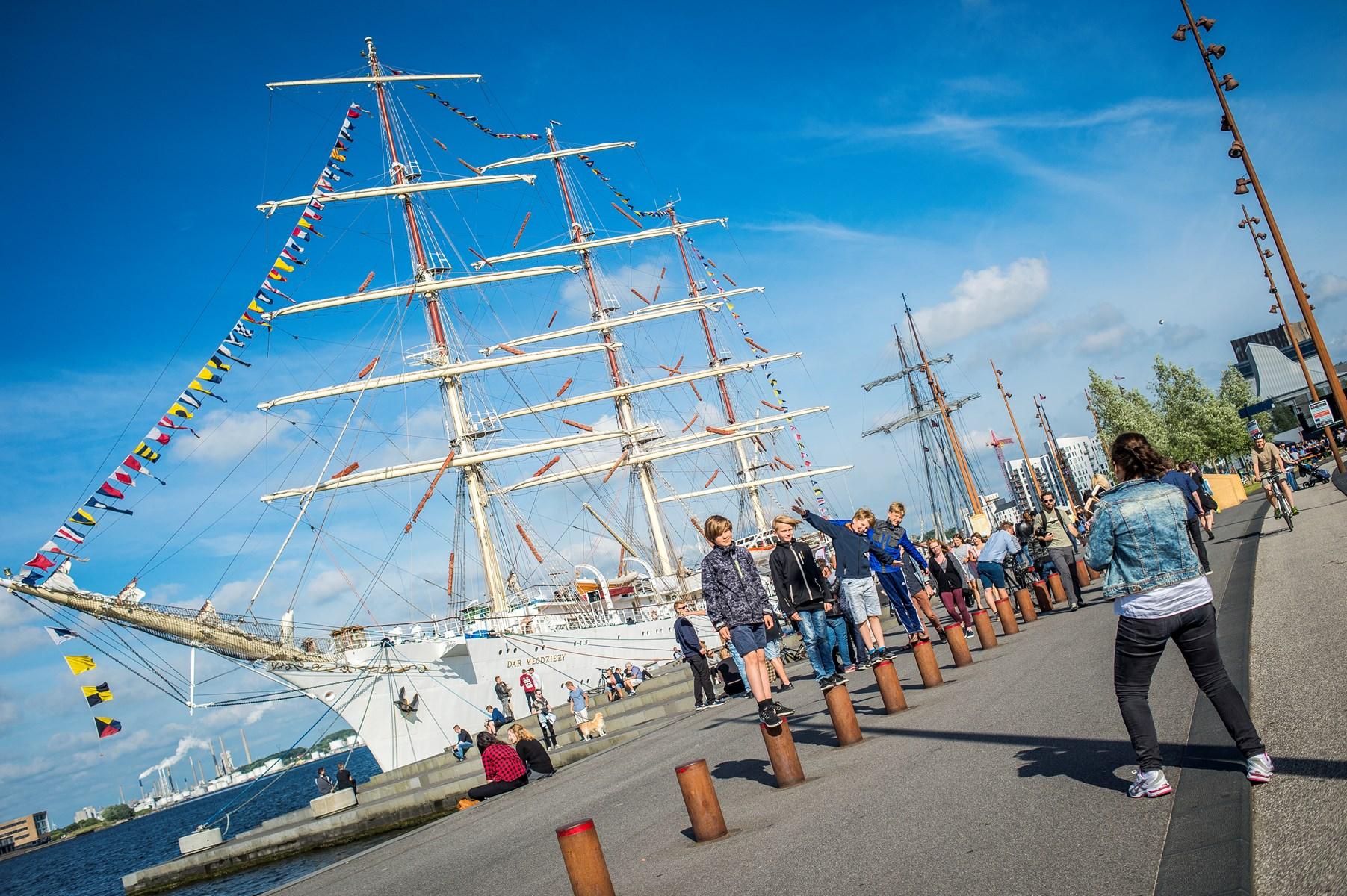 Det er sjette gang, du kan opleve Aalborg Regatta. Arrangementet holdt pause i 2015 og gør det også næste år, når Aalborg igen er vært for The Tall Ships Races. Arkivfoto: Martin Damgård