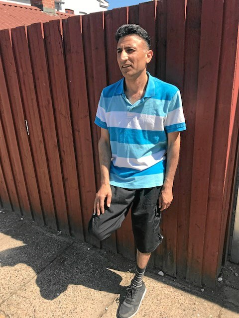 Massud Josif Shro flygtede til fods gennem store dele af Europa. (Foto Jesper Larsen)