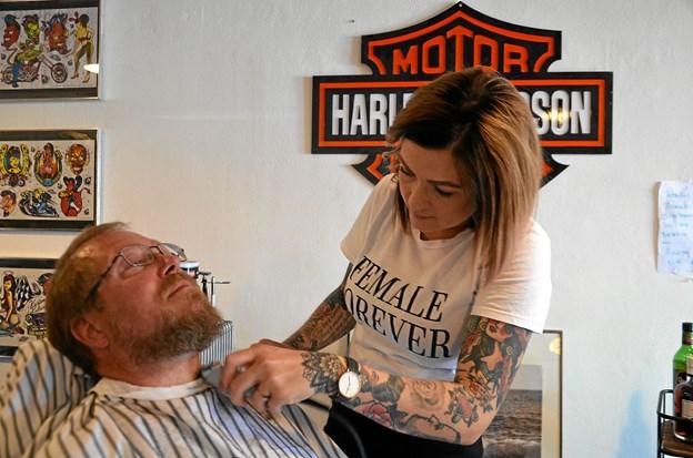 Man kunne få studset skægget. Foto: Jesper Bøss