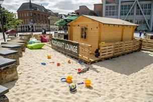 Ny café med sandstrand ved Nordkraft
