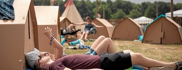 Til festival i bæredygtigt telt