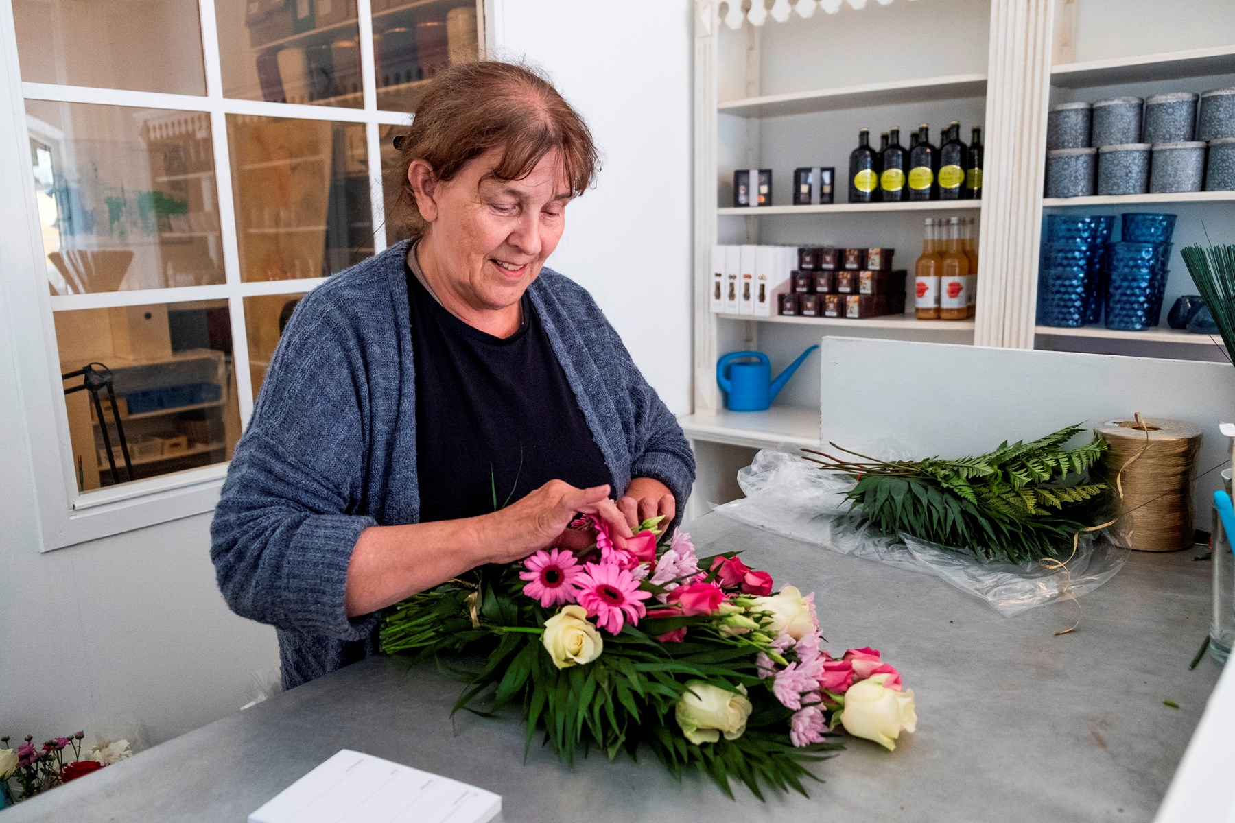 Blomsterbutik ramt af brand - men er flyttet ind hos fantastisk nabo