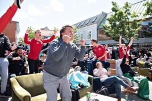 VM-fest ved storskærm i Strømgade
