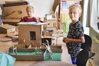 Friskoleelever leger arkitekter på Solvej i Hobro
