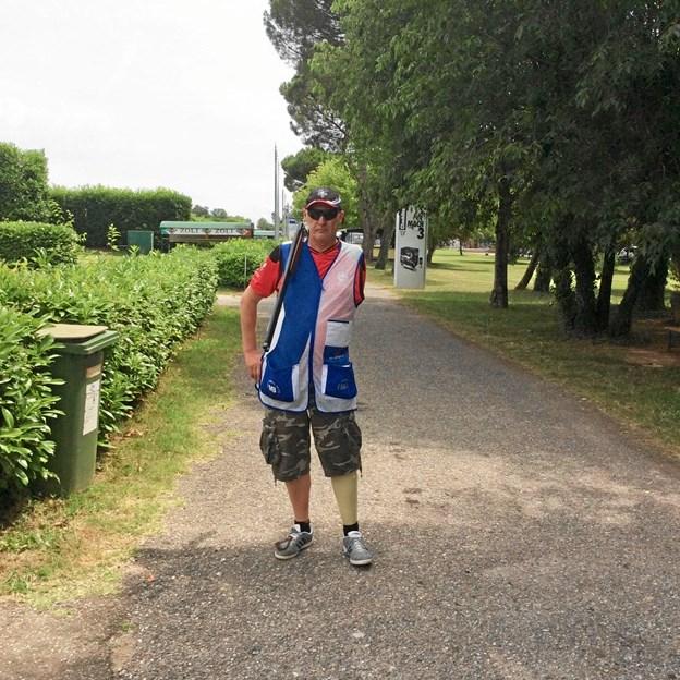 Kim Nyby, Hobro, vil være 60, når det i 2020 går løs ved para-OL i Tokyo, men det ser han på mange måder kun som en fordel i kampen om at få OL-metal med hjem fra Japan. Privatfoto