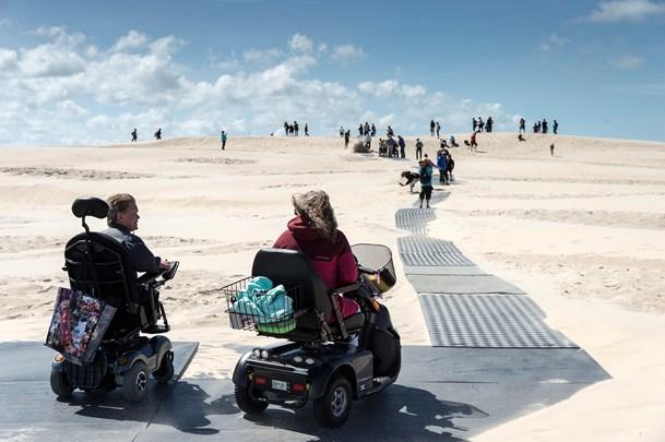 Kørestolsbane i Råbjerg  Mile