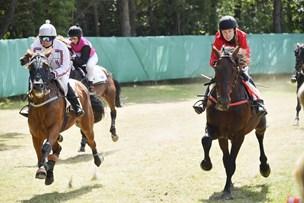 Se billederne: Hestevæddeløb i høj solskin