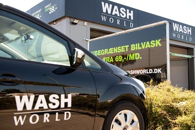 Wash World er et dansk firma, og det har 60 bilvaskehaller fordelt over hele landet.