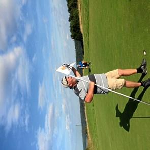 To hole in one på to timer - på hul 17 hos Hobro Golf