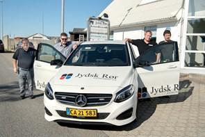 Janus i front for Jydsk Rør Entreprise