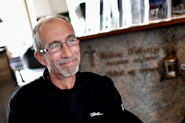 Her ses stenhugger Preben Pedersen. Arkivfoto: Henrik Bo