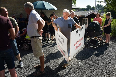Demonstration mod svinefarm i Skibsted