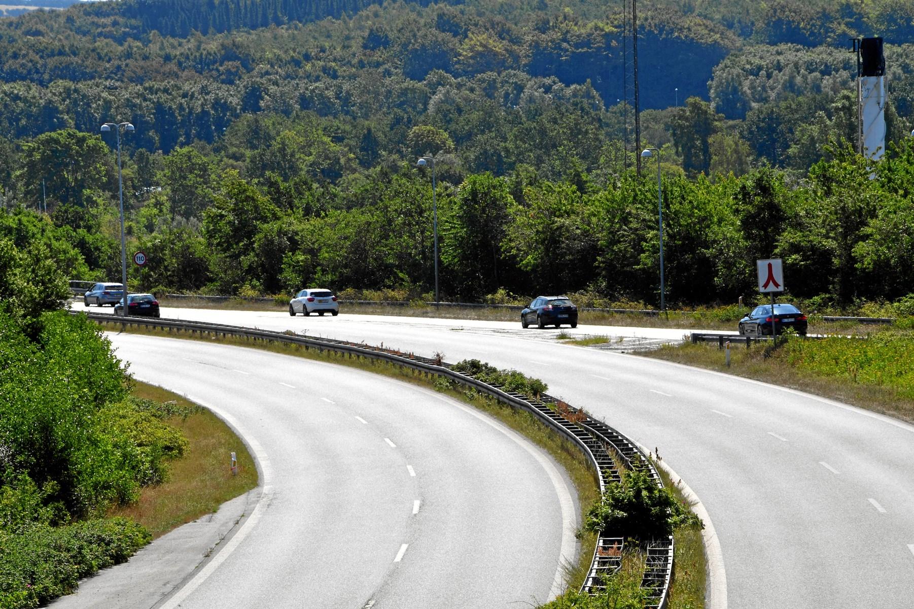 Motorvej bliver til landevej