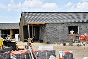 Fem nye parcelhuse ved Ringvejen