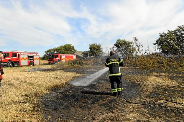 Mejetærsker blev reddet fra flammerne