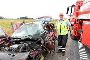 Voldsom ulykke: En alvorligt kvæstet