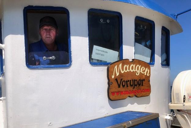 Skipper på Maagen, Thøge Munk Jensen har sejlet med lystfiskere siden 2010.