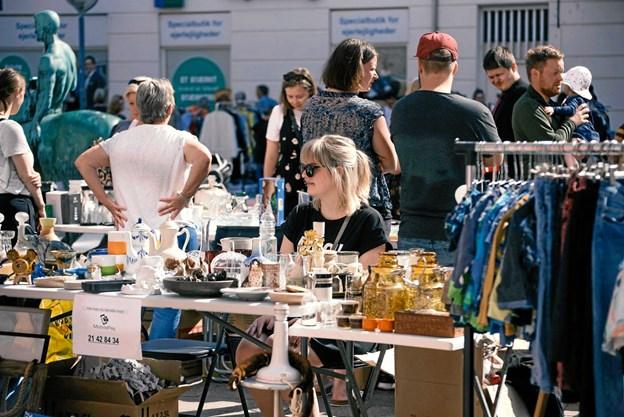 Der er loppemarked på Louise Plads 5. august. Foto: People of Aalborg