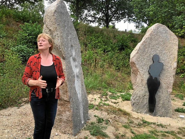 Stinne Teglhus fortalte bl.a. om, hvad det kræver at blive en anerkendt kunstner.Privatfoto