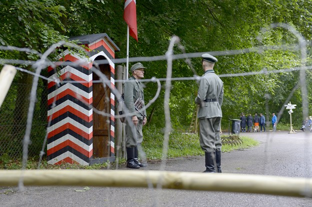 Militær historisk dag i Kunstskoven i Frederikshavn  Foto: Bente Poder