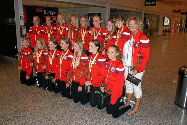 Verdens bedste sjippere tilbage i Aalborg efter et fantastisk VM. Foto: Ole Skouboe