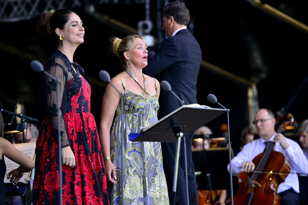 Andrea Pellegrini (til højre), og Elsebeth Dreisig er et par af de sangere man kan opleve ved festivalen. Arkivfoto: Michael Kock