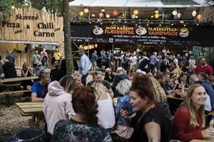 83 organisationer nyder godt af Smukfests cirka 2,5 ton overskudsmad, som er lidt ud over det sædvanlige.