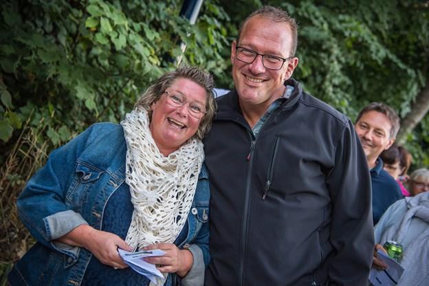 Marianne og Morten Nielsen var kørt fra Aalestrup for at opleve Kim Larsen. - Det kan være det snart er sidste chance for at se ham, lød det fra parret.