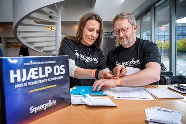 Mette Duedahl Pedersen og Jens Ole Amstrup, er de to hovedkræfter bag Squeezebox International Accordion Festival. Arkivfoto: Lars Pauli
