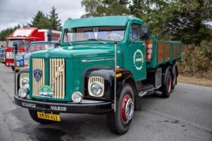 Se billederne: 145 gamle lastbiler vakte opsigt