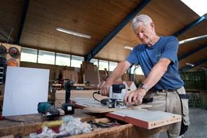 50 års arbejde i træ på samme arbejdsplads