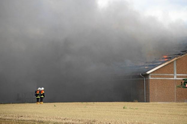 Eksplosionsfare ved brand i hal