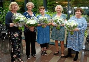 Fem jubilarer på gymnasium